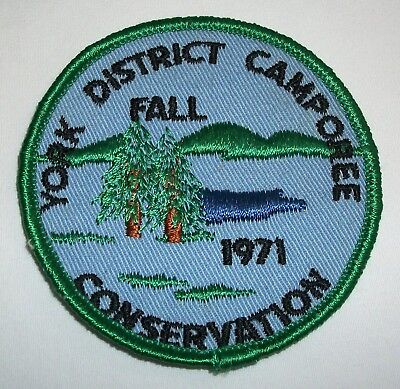 Vintage 1971 York District Fall Camporee Conservation Patch BSA Boy Scouts