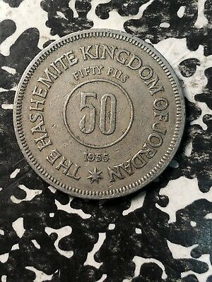 1955 Jordan 50 Fils (4 Available) Circulated (1 Coin Only)