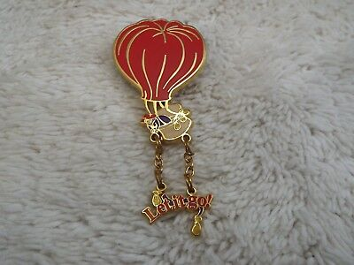 """""""Let it Go"""" Hot Air Balloon Red Hat Society Pin  (A35)"""
