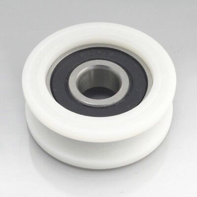 6mm Bore Bearing with 30mm Round Nylon Pulley U-Groove Track Roller Bearing 6x30