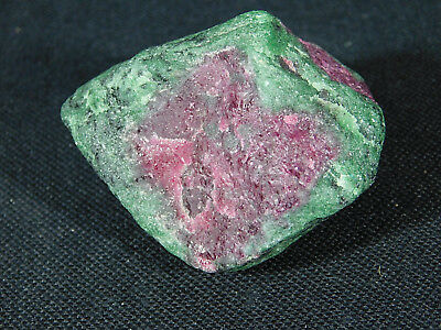 A 100% Natural Red RUBY Crystal In A Deep Green Zoisite Matrix! Tanzania 128gr