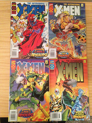 Astonishing X-Men Comic Set Marvel Comics # 1-4 Age Of Apocalypse Newsstand Ed