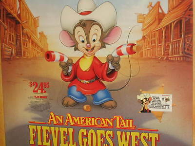 An American Tail Fievel Goes West Poster James Stewart Cleese Irving Deluise Us