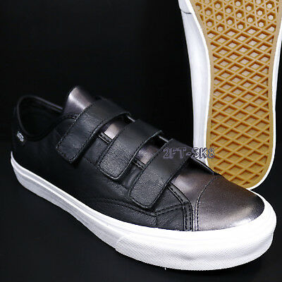 a7756eb598 Vans Style 23 V 2-Tone Leather Black Gunmetal Women s Skate Shoes s88150.
