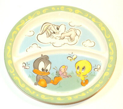 Baby Looney Tunes Plate 1998 Plastic Bugs Bunny Daffy Duck Tweety Bird Cartoon