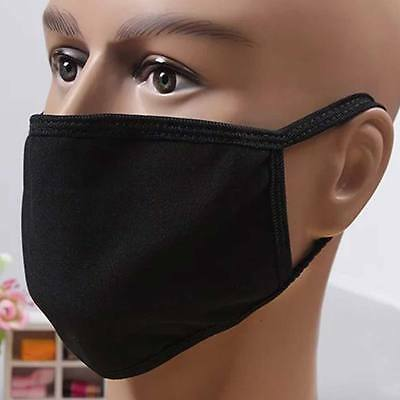 Black Fashion Unisex Mouth Face Mask Respirator Health Anti-Dust Cycling Sports