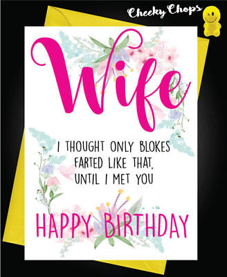 Funny Happy Birthday Husband Wife Card Novelty Comedy Comical Farts C449