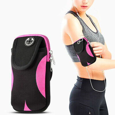 Universal Convenient Pouch With Adjustable Sports Armband - Black & Pink