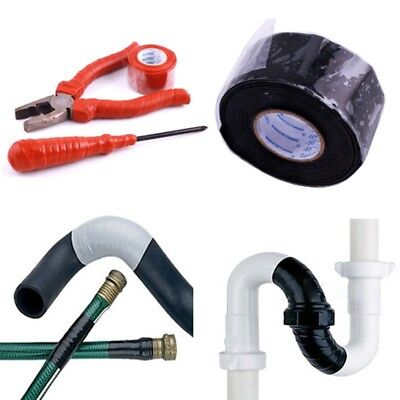 US Black Rubber Tape Silicone Repair Waterproof Bonding Rescue Self Fusing Wire