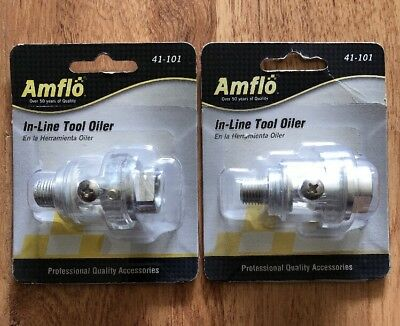 Amflo #41-101 In-Line Tool Oiler - 150 PSI (2 Pack Lot)