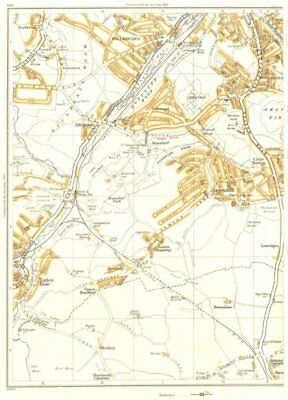 SHEFFIELD.Dronfield,Coal Aston,Frecheville,Gleadless,Norton Woodseats 1935 map