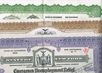 Collectors'-Set 3 State of New York, 1940s, rarer types, VF