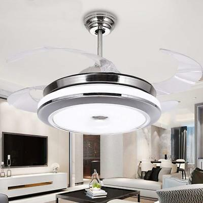 Invisible Ceiling Fan Light Dining Room Home Fan Chandelier LED Lamp Decor