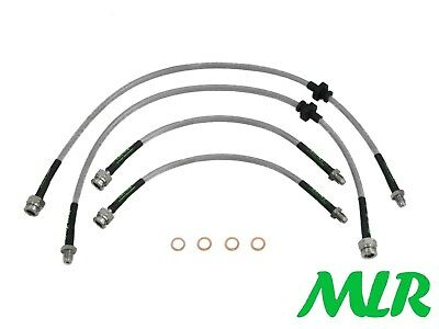Skyline 2Wd Gtst R32 R33 Turbo Stainless Steel Braided Brake Lines Hose Pipes Un