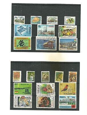 Commonwealth Ghana    Africa  3 stock cards mix collection stamps