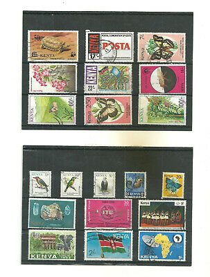 Commonwealth      Kenya  3 stock cards mix collection stamps