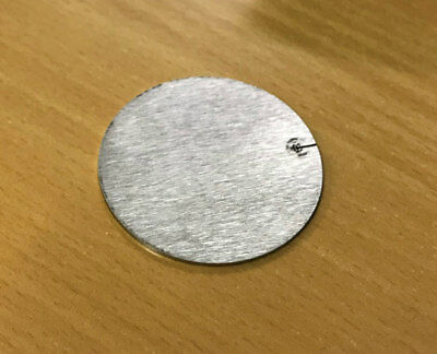 45mm x 1.2 mm Ø Stainless Steel Round Discs with laser start mark