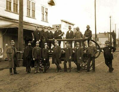 "1885-1895 Olympia Fire Department, WA Vintage Photograph 8.5"" x 11""  Reprint"