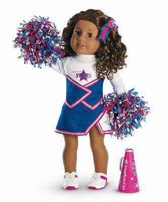American Girl Doll Cheer Gear 2 in 1 Cheerleading Oufits Shoes NEW