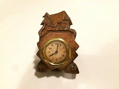 Antique Wooden Mantel Clock with brass movement