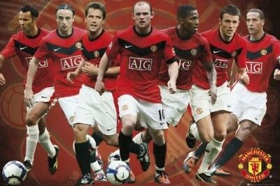 Manchester United Spieler 2008-2009 Maxi Poster 61cm x 91.5cm new and sealed