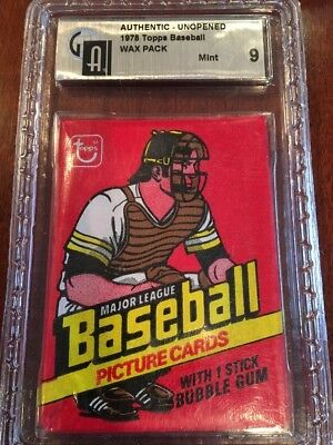 1978 Topps Baseball Card Unopened Wax Pack - Gai 9 Mint