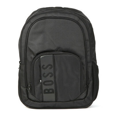 Brand New Hugo Boss Nylon Canvas Black Branded Backpack Bag J20229/09B