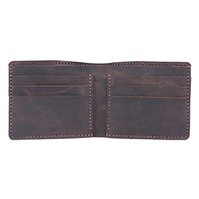 DIY Coffee Leather Wallet Purse Complete Kit with Pre Cut Pre Punch Leather