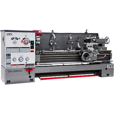 JET Spindle Bore Geared Head Lathe - 4 1/8in. Spindle Bore Model#GH-2680ZH