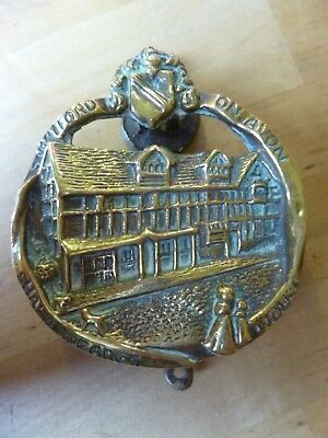 Antique Brass 'Shakespeare's House' Door Knocker