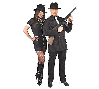 Costumi Halloween Adulti.Nero Gangster Abito Da Uomo Adulti Costume Halloween 3 X