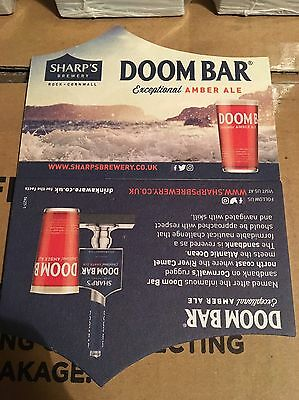 Sharps Brewery Doom Bar Beer Mats X 25 New Design. Bargain Price And Free Post