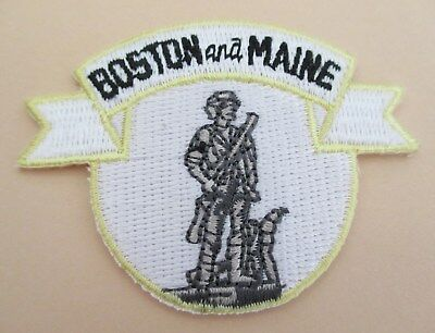 """BOSTON and MAINE Railroad PATCH Measures 2 1//2/"""" x 1 3//4/"""" IRON ON"""