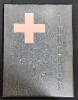 1954 Pink Cross Conemaugh Valley School of Nursing Johnstown PA Signed Yearbook