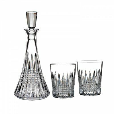 Waterford Crystal : Lismore Decanter and Set of 2 Double Old Fashioned Glasses