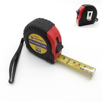 MM Tools Trade Tape Measure 5m/16ft Metric/Imperial Rubber Shock Proof Belt Clip