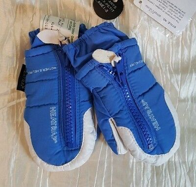 REI Gordini blue baby toddler mittens XXS 12-24 mo. mothers helpers thinsulate