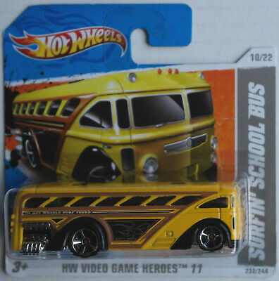 Hot Wheels Surfin School Bus Surf´s Up Bus gelb Neu/OVP Omnibus Autobus HW Toy