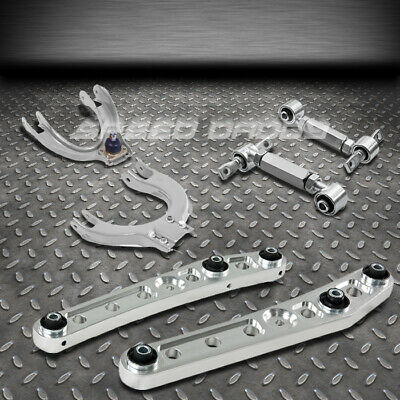 Powder Coated Silver Adjustable Direct Bolt On CNC Machined Steel Alloy Rear Camber Control Arm Kit For Civic Del Sol Integra EE//EF//EG//EH//EJ//DC