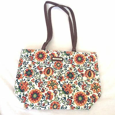 SPICE MARKET Double Handle Shoulder Bag Purse Tote Faux Leather Longaberger New