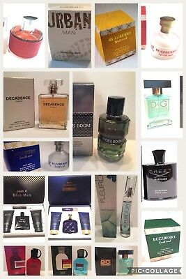 Huge Lot of 50 Bottles of Perfumes & Cologne - Surplus Lot - ALL NEW