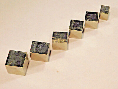 Lot of Small Nice AAA 100%Natural Graduated PYRITE Crystal Cubes! Spain 78.0gr