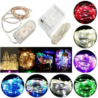 20-100 LED Battery Micro Rice Wire Copper Fairy String Lights Party white/rgb MK