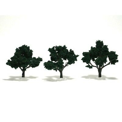 "Woodland Scenics TR1508 Dark Green Deciduous Tree 3""-4"" (3) Ready-Made"