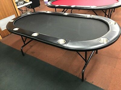 """84"""" PROFESSIONAL POKER TABLE  + FOLD UP  LEG [BLACK]  + 2 CARDS + FREE Cover"""