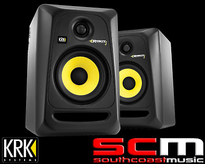 "KRK ROKIT 5"" Active Studio Monitors G3 2-way Speakers 100W Pair Brand New RP5G3"