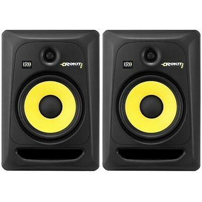 "KRK ROKIT 8"" Active Studio Monitors G3 2-way Speakers Pair Brand New RP8G3"