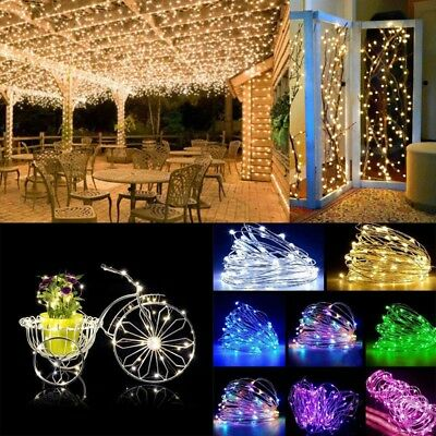 10-100LED USB Fairy Lights Copper Wire String Lights Xmas Party Decor Lamps | GE