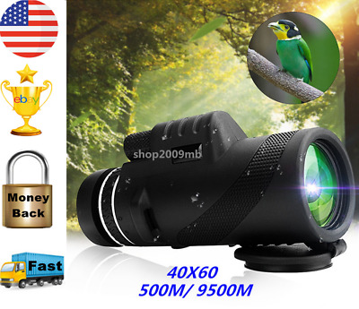 40X60 Day&Night Vision Dual-Focus HD Optics Zoom Monocular Telescope Waterproof