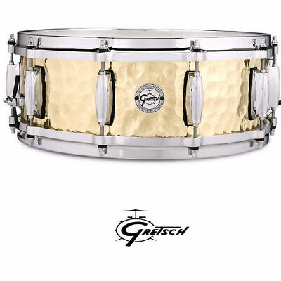 Gretsch Hammered Brass Shell 14 x 5 inch Snare Drum With Di-Cast Hoops S1-0514-B